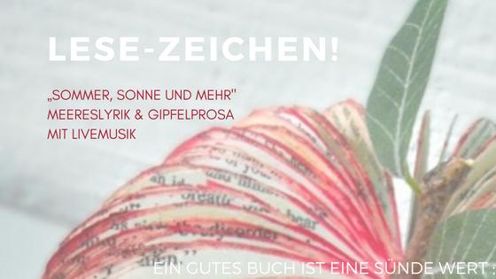 Termin LESE ZEICHEN AtriumKircheBremerLeseLust 01 August 2016