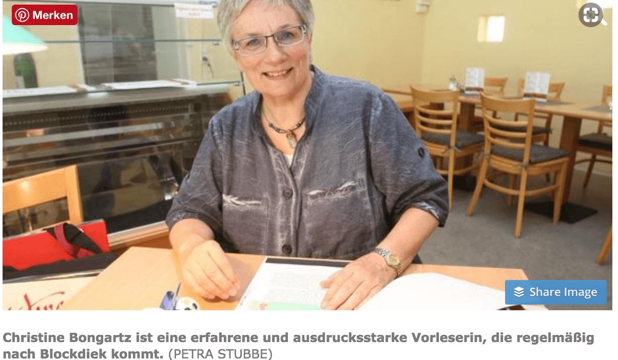Christine Bongartz Weser Kurier August 2018